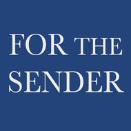 FOR THE SENDER